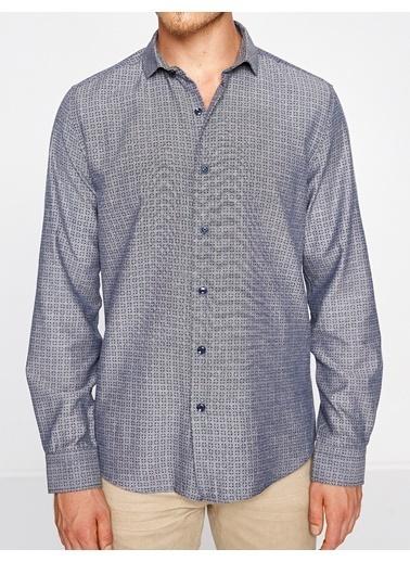 Desenli Uzun Kollu Gömlek-Koton